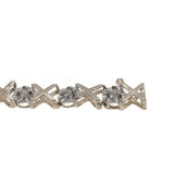 Hugs & Kisses - Vintage 10K Gold Diamond Tennis Bracelet (VB034)