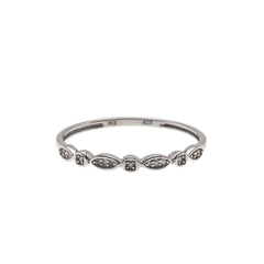 Adorn Me - Estate Sterling Silver Diamond Band (ER171)