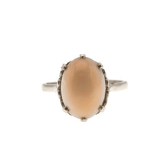 Angel - Edwardian 15K Gold Natural Angel Skin Coral Ring (EDR057)