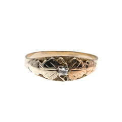 Black Hills Gold Treasure - Victorian 10K Gold Diamond Ring (VICR127)