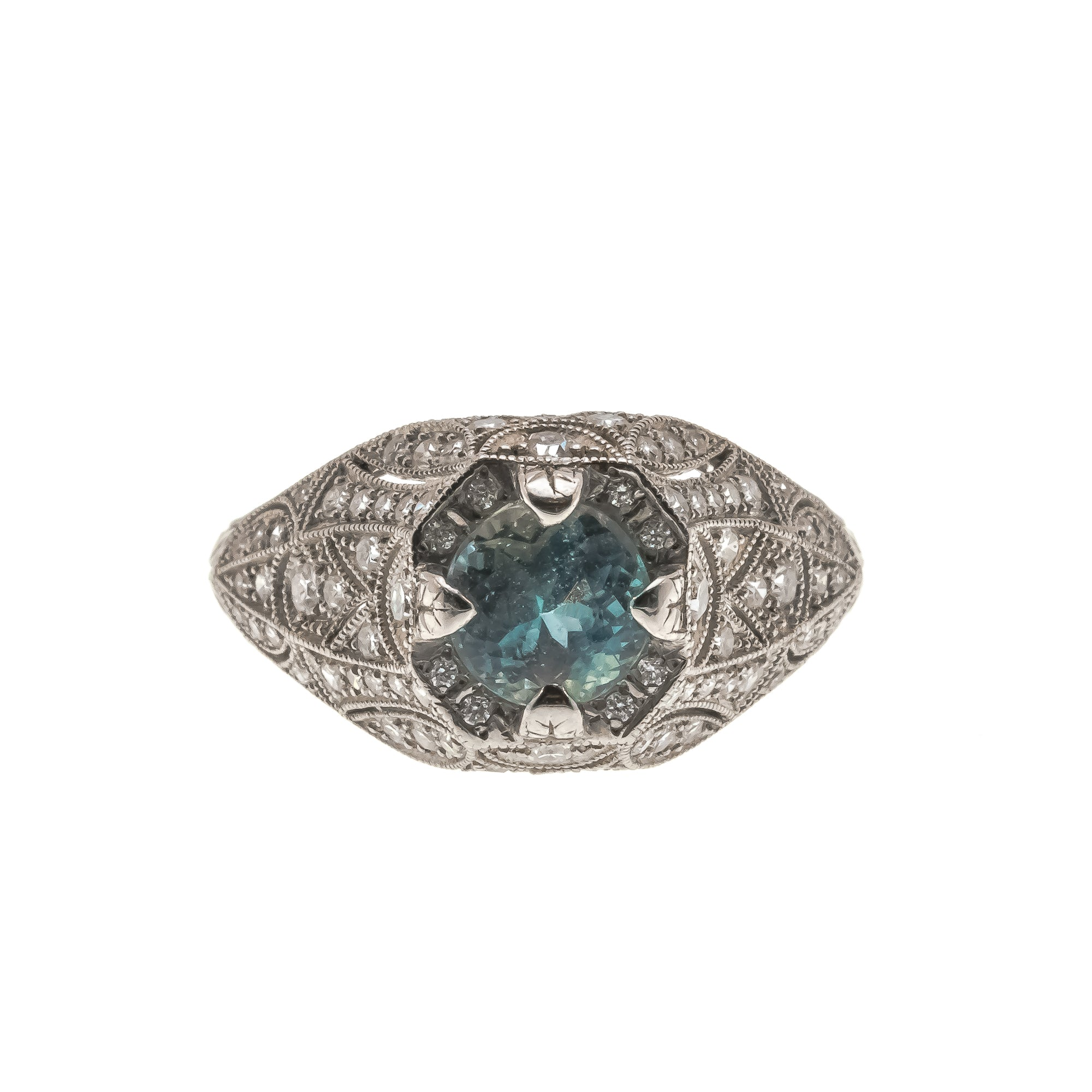 Recently Sold : From Russia With Love - Vintage Platinum Alexandrite Diamond Ring (VR464)