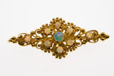 Kaleidoscope Of Colour - Vintage 14K Opal Brooch & Pendant (VBR001)