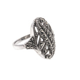 Art Deco Sterling Silver Marcasite Ring