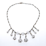 Art Deco Crystal Necklace & Earrings Set