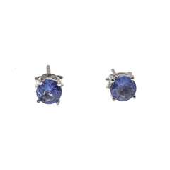 LavenderJewel - Estate Sterling Sover Tanzanite Stud Earrings  (EE078)