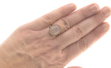 Rose Mist - Edwardian 9K  Rose Gold & Rose Quartz Ring (EDR028)