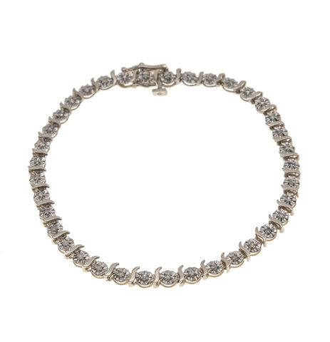 A True Classic - Vintage 9K Gold Diamond Tennis Bracelet