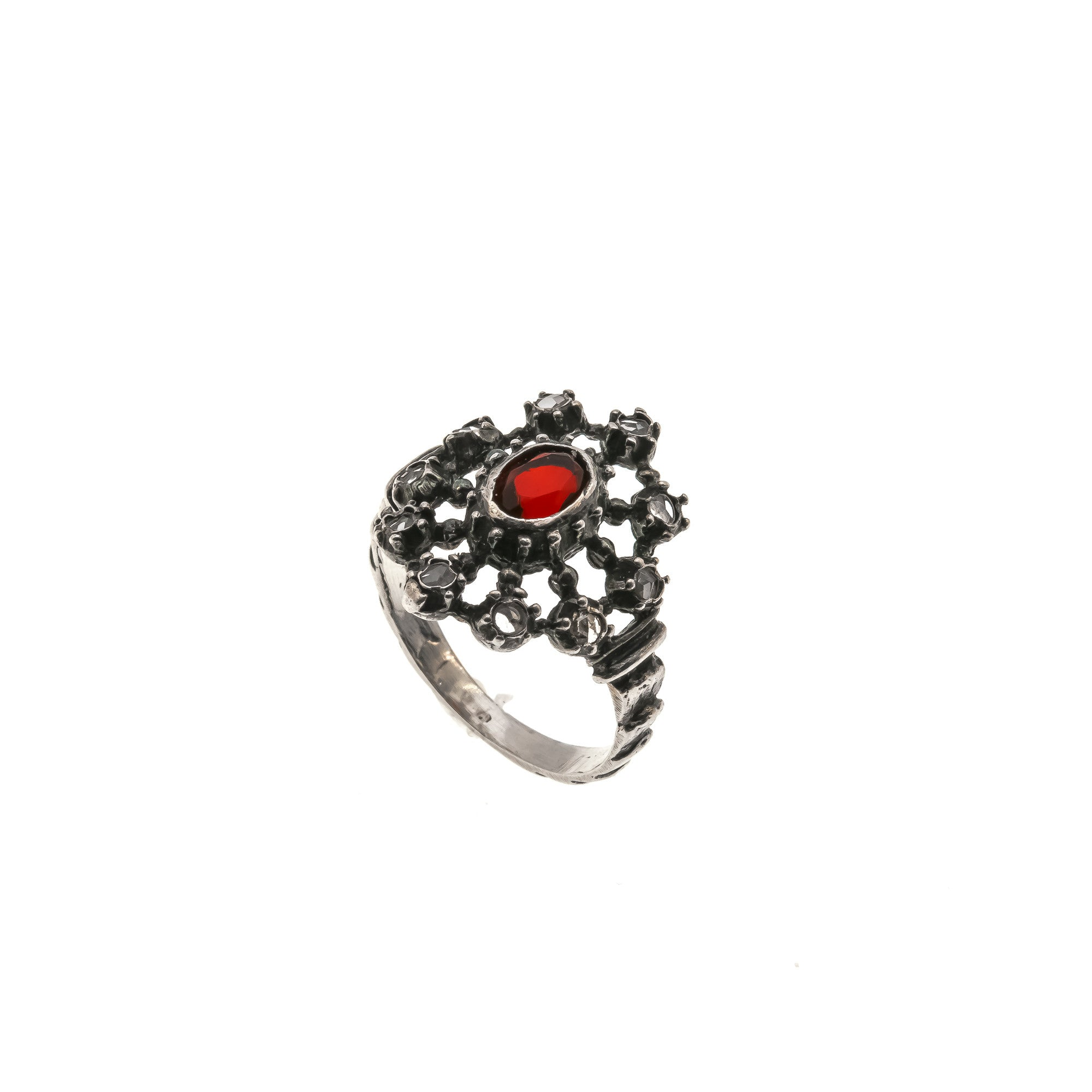 sterling overstock shipping watches product romantic orders jewelry free diamond over traditional on garnet india silver handmade ring
