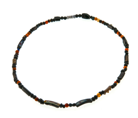 Ancient 100 A.D. - 500 A.D. Roman Glass & Agate Beaded Necklace
