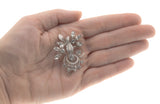Signs Of Spring - Art Deco Sterling Silver Rhinestone Flower Bouquet Brooch