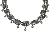 Sea of Lace - Vintage Sterling Silver Filigree Necklace