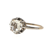 Antique Rose - Victorian 18K Dutch Rose Cut Diamond Solitaire Ring  (VICR103)