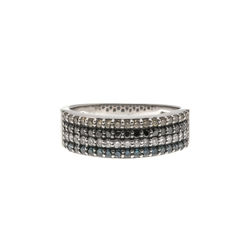 Contemporary Contrast Of Colours - Estate 10K Diamond Ring