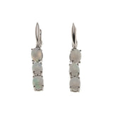 Discovery - Estate Sterling Silver Opal Earrings (EE167)