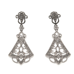Bewitched - Estate Sterling Silver Diamond Earrings
