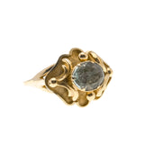 Watery Depths - Georgian 14K Gold Aquamarine Ring (GR019)