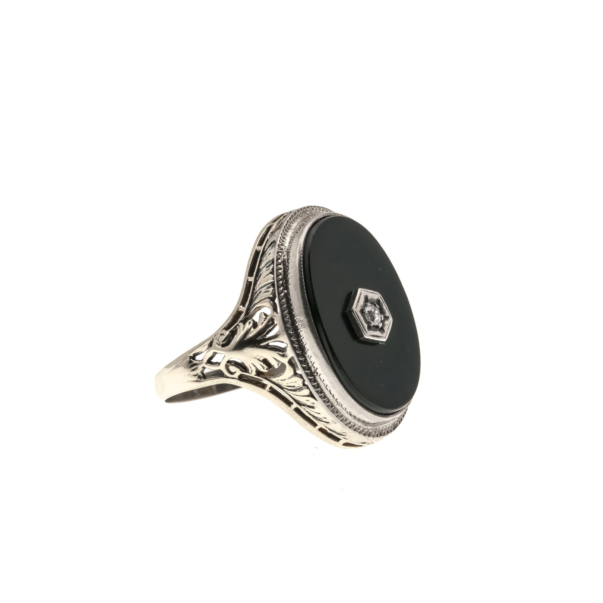 spirit gallery lyst jewelry ring modolo diamond product di rings wedding black in onyx