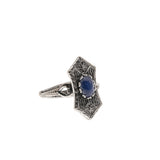 Ornate Art Deco 10K Blue Star Sapphire Ring