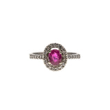Kiss - Estate 14K Ruby & Diamond Ring (ER101)