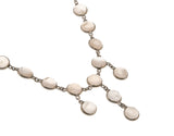 Rose Petals - Art Deco Sterling Silver Rose Quartz Necklace (ADN062)