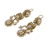 Victorian Circa 1900 10K Filigree & Pearl Earrings (VICE013)