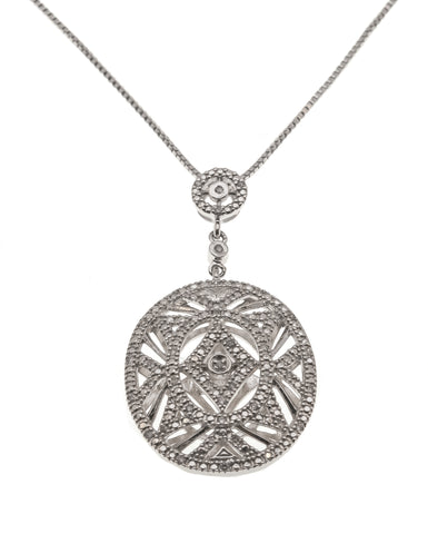 Sensual Appeal - Estate Sterling Silver Diamond Pendant