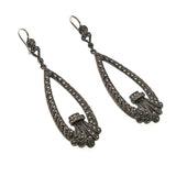 Victorian Sterling Silver Marcasite Earrings (VICE011)