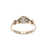 Sparkling Buttercup -  Victorian 9K Rose Gold Diamond Solitaire Ring (VICR099)