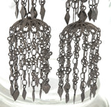 Español Renaissance  - Art Deco 900 Silver Chandelier Filigree Earrings