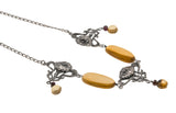 Firefly - Vintage Art Nouveau Baltic Amber Necklace