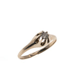 Glittering Buttercup -  Victorian 14K Rose Gold Diamond Solitaire Ring (VICR101)