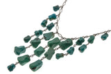 Blue Lagoon Waterfall - Vintage Sterling Silver Turquoise Necklace