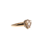 Hearts Desire - Vintage 14K Rose Gold Morganite & Diamond Ring (VR339)