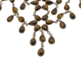 Eye Of The Tiger - Vintage Sterling Silver Tiger Eye Waterfall Necklace (VN023)