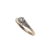 Everlasting - Art Deco 18K Platinum Diamond Solitaire Ring