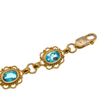 London Party - Vintage 9K Swiss London Blue Topaz Bracelet (GB028)