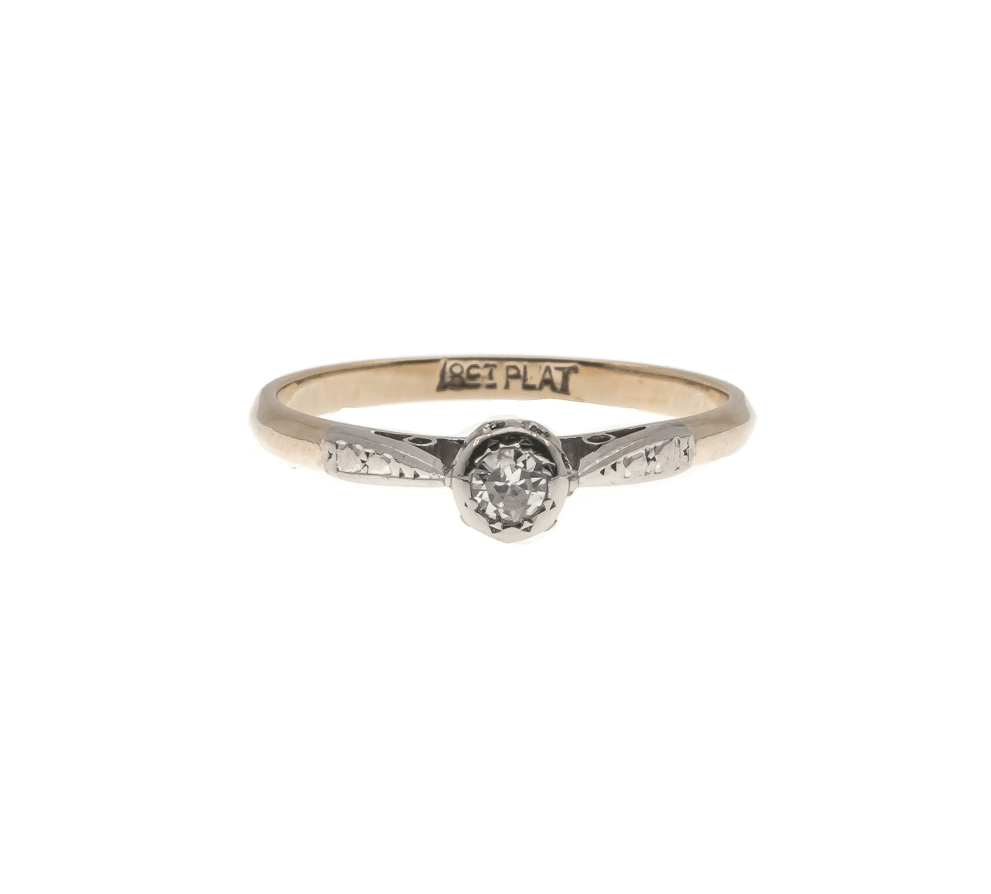 Proposal Perfect - Art Deco Platinum 18K Diamond Solitaire Ring