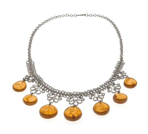Vintage Melchior Baltic Amber Necklace