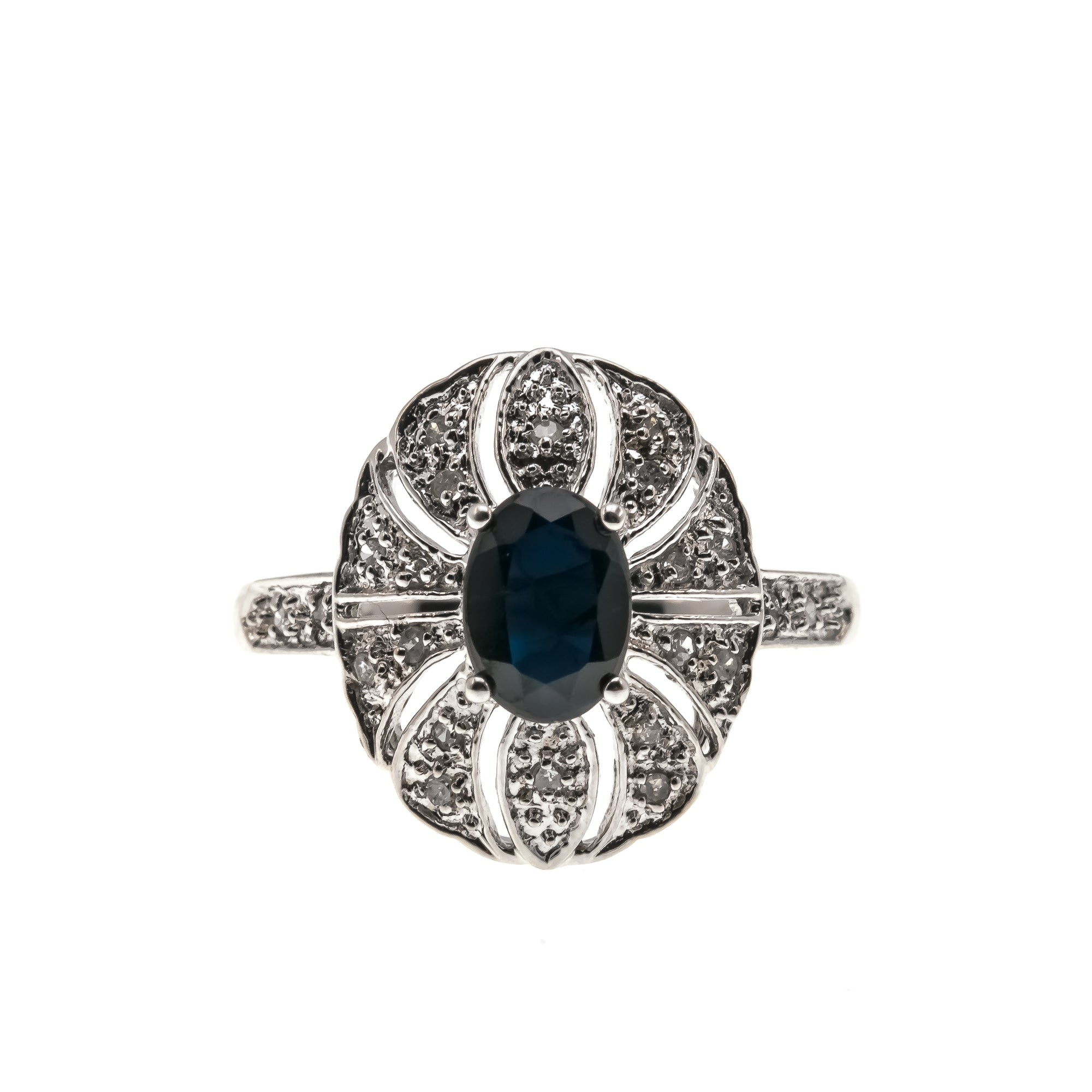 The Ritz - Estate 10k Sapphire & Diamond Ring
