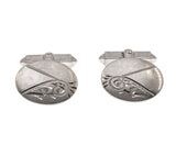 Cocktail Hour Art Deco Sterling Silver Cuff Links (ADA020)