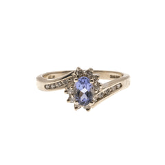 'Le Lavandou' - Vintage 14K Tanzanite & Diamond Ring (VR226)