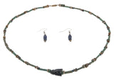 Sands Of Kemet - Ancient Egyptian Circa 1300 B.C. - 10 A.D.  Cicada Lapis Necklace & Earring Set