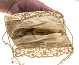Victorian Glass Beaded & Celluloid Bag