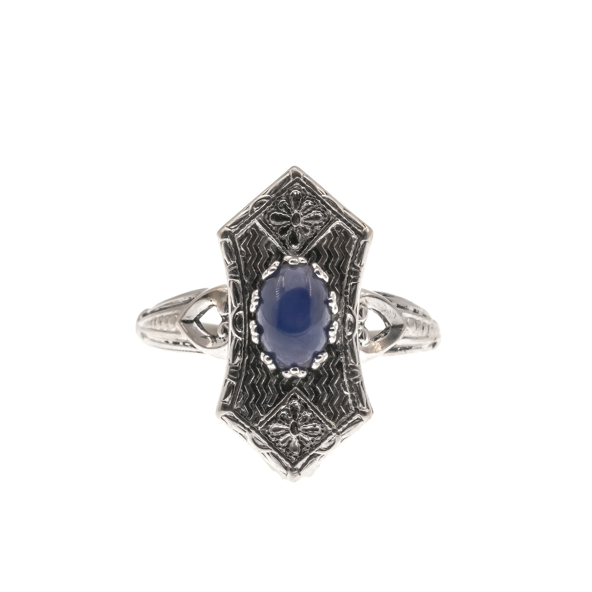 topaz ring pin and white in kanchanaburi sapphire overlay platinum thai blue star