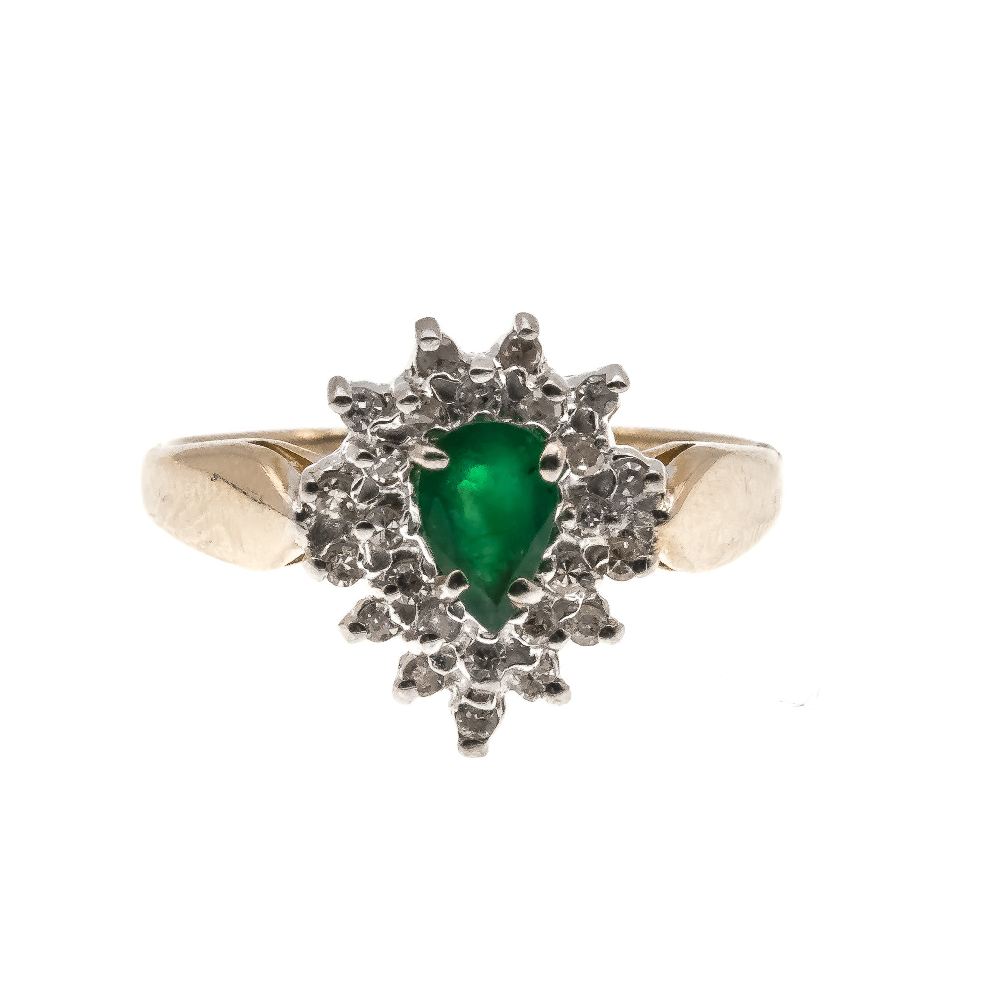Emerald Nights - Vintage 10k Emerald & Diamond Ring