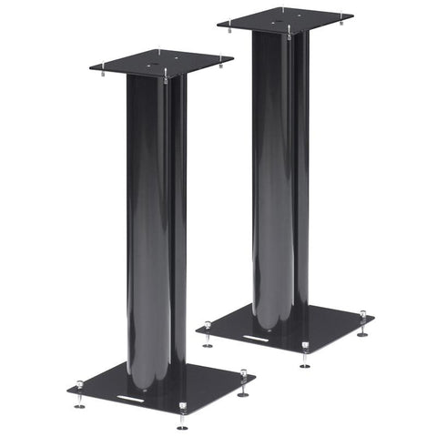 Norstone STYLUM 2 Speaker Stands Black Powder Coated, With Spikes 600mm Tall - dogoodaudio - 1