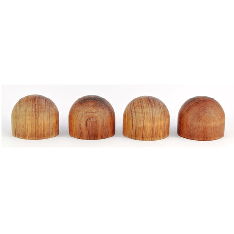4 X ROSEWOOD DOMED ISOLATING FEET - Do Good Audio