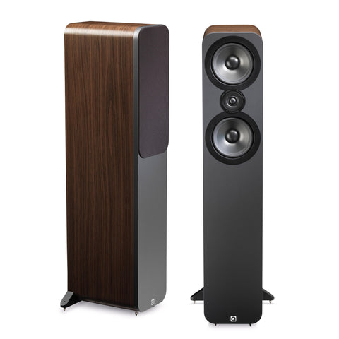 Q Acoustics 3050 - Floorstanding Speakers - Walnut Finish - dogoodaudio