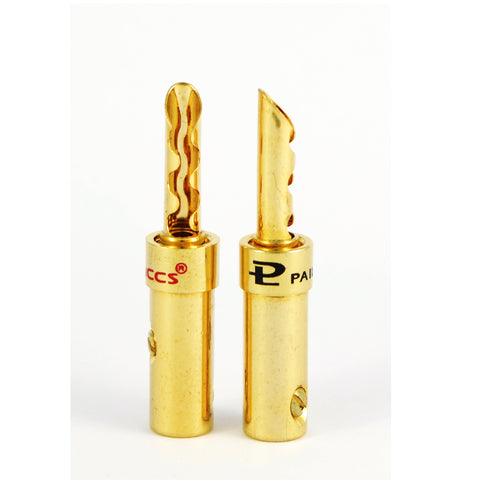Pailiccs Quality BFA Type Gold Plated 4mm Banana Plug Connectors - dogoodaudio - 1