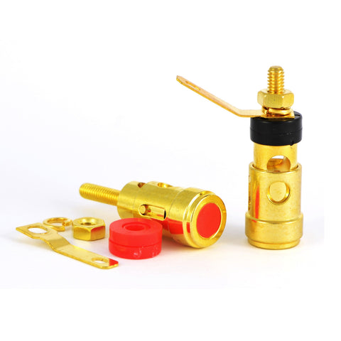 Spring Loaded Gold Plated Speaker Binding Post Connectors - dogoodaudio - 1